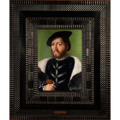 Workshop Of Corneille De Lyon (1500-1575). Portrait Of A Young Man In Toquet Noir