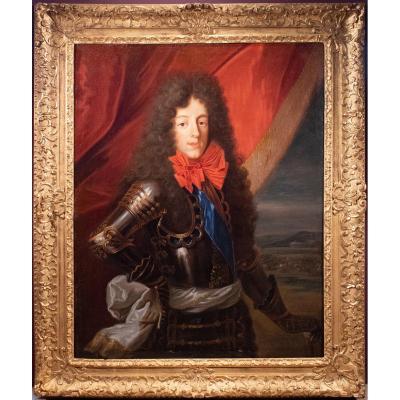 François De Troy (1645-1730) Workshop Of. Portrait Of Louis III De Bourbon-condé