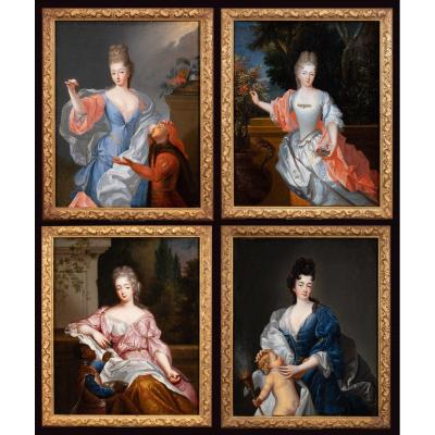 Allegory Of The Four Seasons. Workshop Of François De Troy (1645-1730)