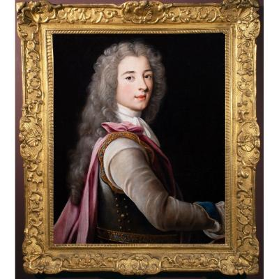 Portrait Of A Young Aristocrat In Breastplate. Nicolas Fouché (troyes, 1653 – Paris, 1733)