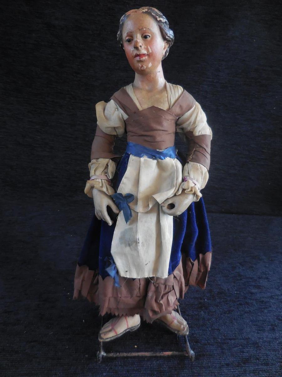 Santon Napolitain  Femme Aux Sandales H 31 B E ép.xix-ème
