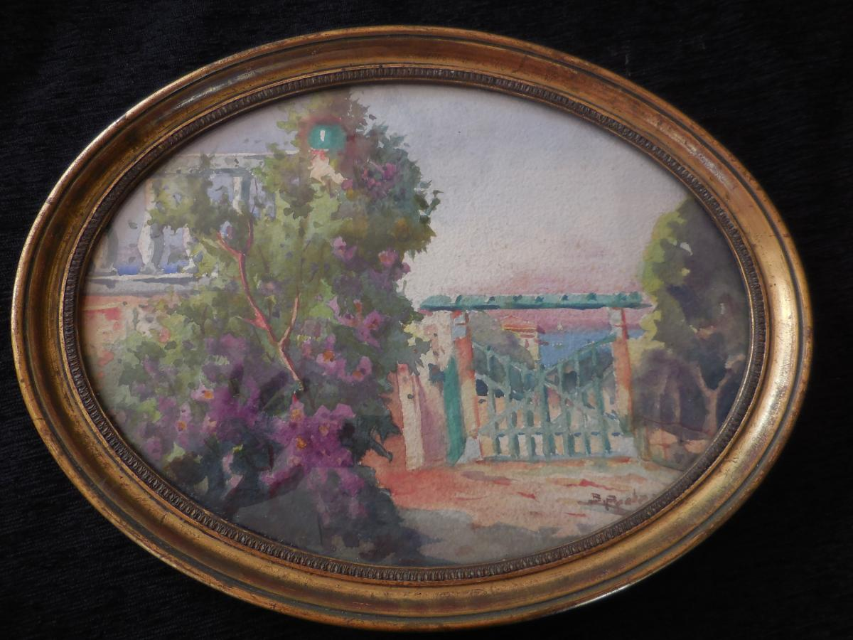 Watercolor Signed Bernard Pratx (1897-1980)