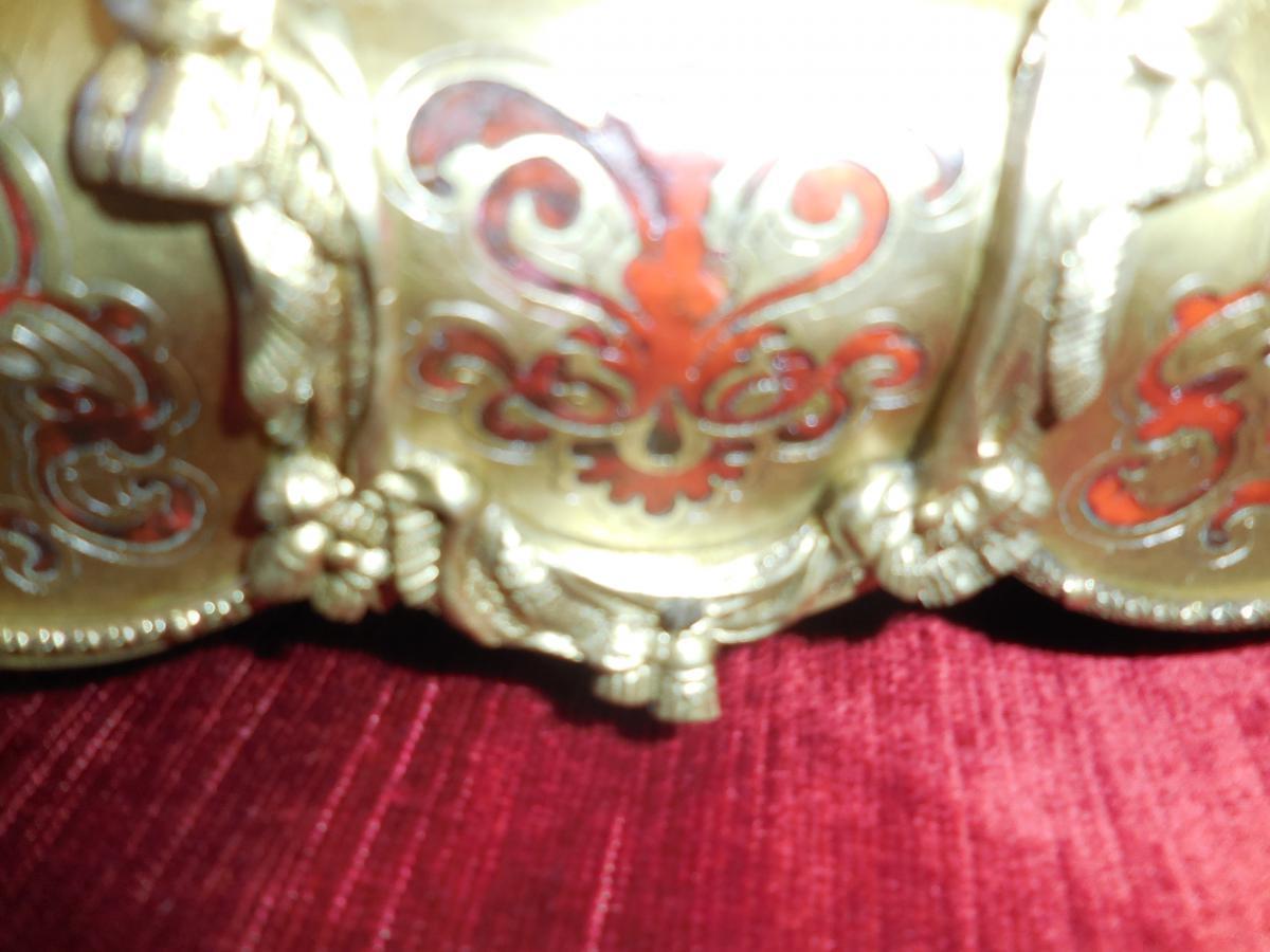 Necessaire à écrire   marqueterie Boulle époque Napoléon III-photo-1