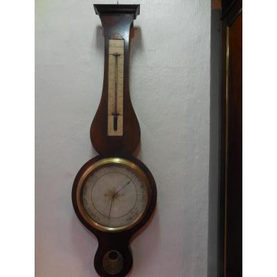 Baromètre Acajou De Cuba époque Début XIX Eme