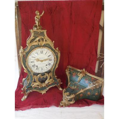 Grand Cartel d'Applique Vernis Martin ép Louis XV