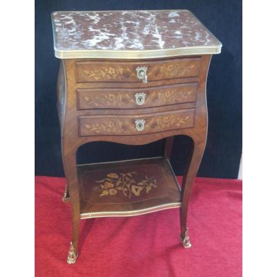 Table de salon en  marqueterie st. Louis XV ép XIXe