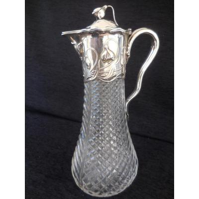 Ewer Crystal And Silver Time 1900
