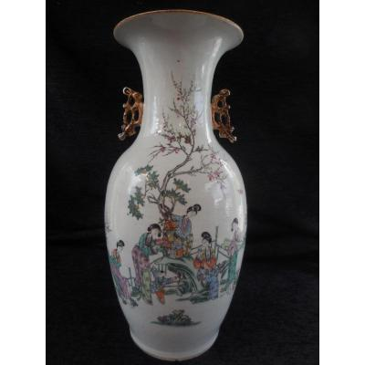 Porcelain Vase China Ht 45cm End Nineteenth