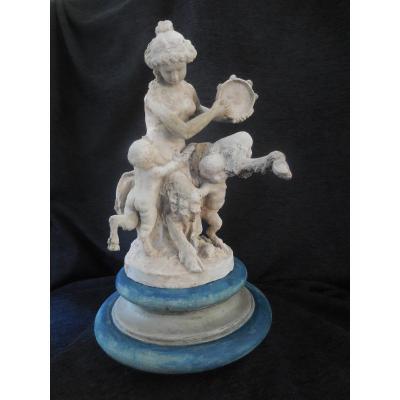 Sculpture d'Atelier En Terre Cuite  sv Clodion Ecole Fr.  époque Fin XVIIIe/ Début  XIXe Siècle