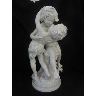 Important Porcelain Group Capodimonte Sg Madrassi Around 1900 Ht 59cm