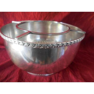 Large Champagne Cooler In Silver Metal Mo Risler And Carré Paris Late Nineteenth S