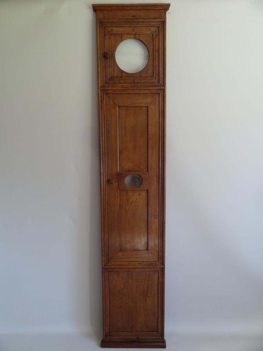 Panneau De Boiserie Pour Horloge Murale ,  18ème Siècle