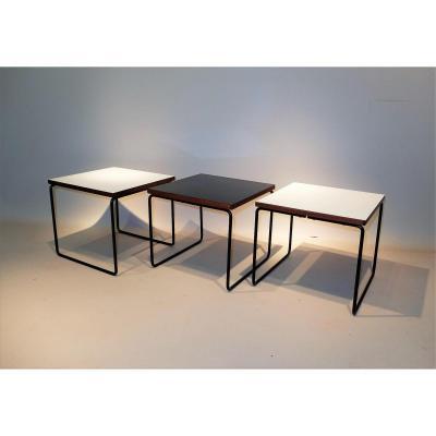 3 Tables volantes 1955, Pierre Guariche Pour Steiner