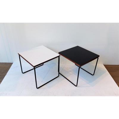 2 Tables Volantesde  Pierre Guariche Pour Steiner, 1955