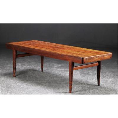 Table Basse Scandinave En Palissandre, Johannes Andersen