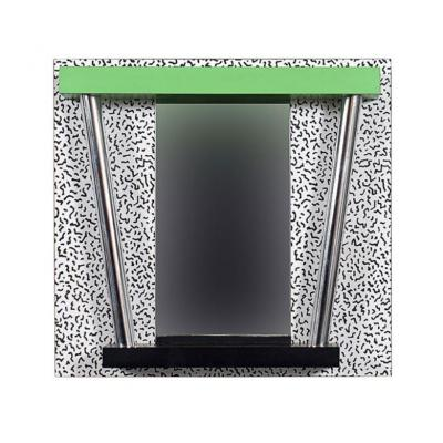 Rare Mirror Signed Sottsass Ettore From 1983