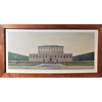 Dessin d'Architecte Daté Et Signé, Edm Meyer 1913