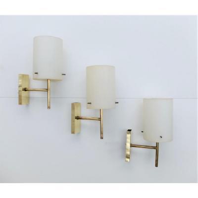 3 Wall Lamps 1950, Stilnovo ...