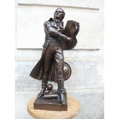 """Sculpture en bronze  de Dumaige   """" Lazare Carnot """""""