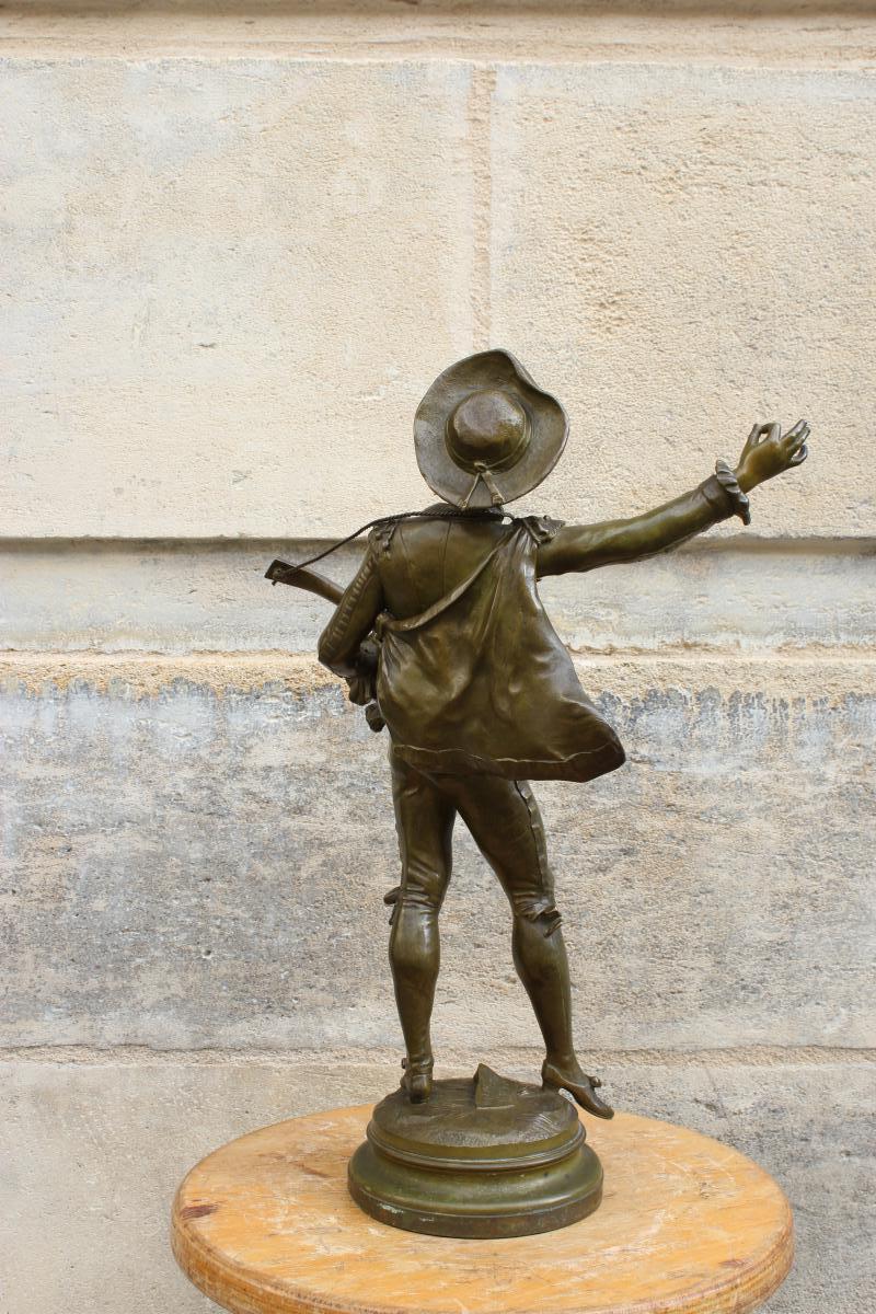 """Bronze  """"Figaro""""  de Auguste Moreau-photo-3"""