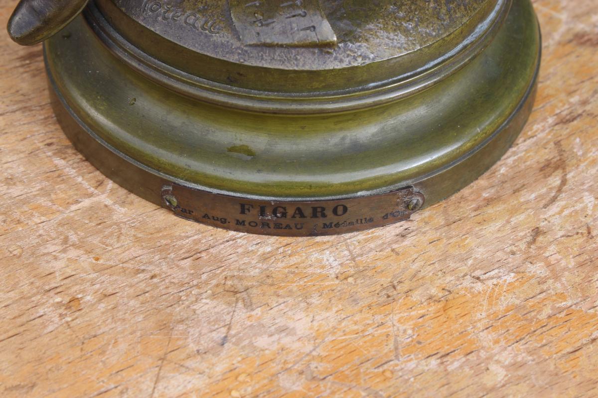 """Bronze  """"Figaro""""  de Auguste Moreau-photo-2"""