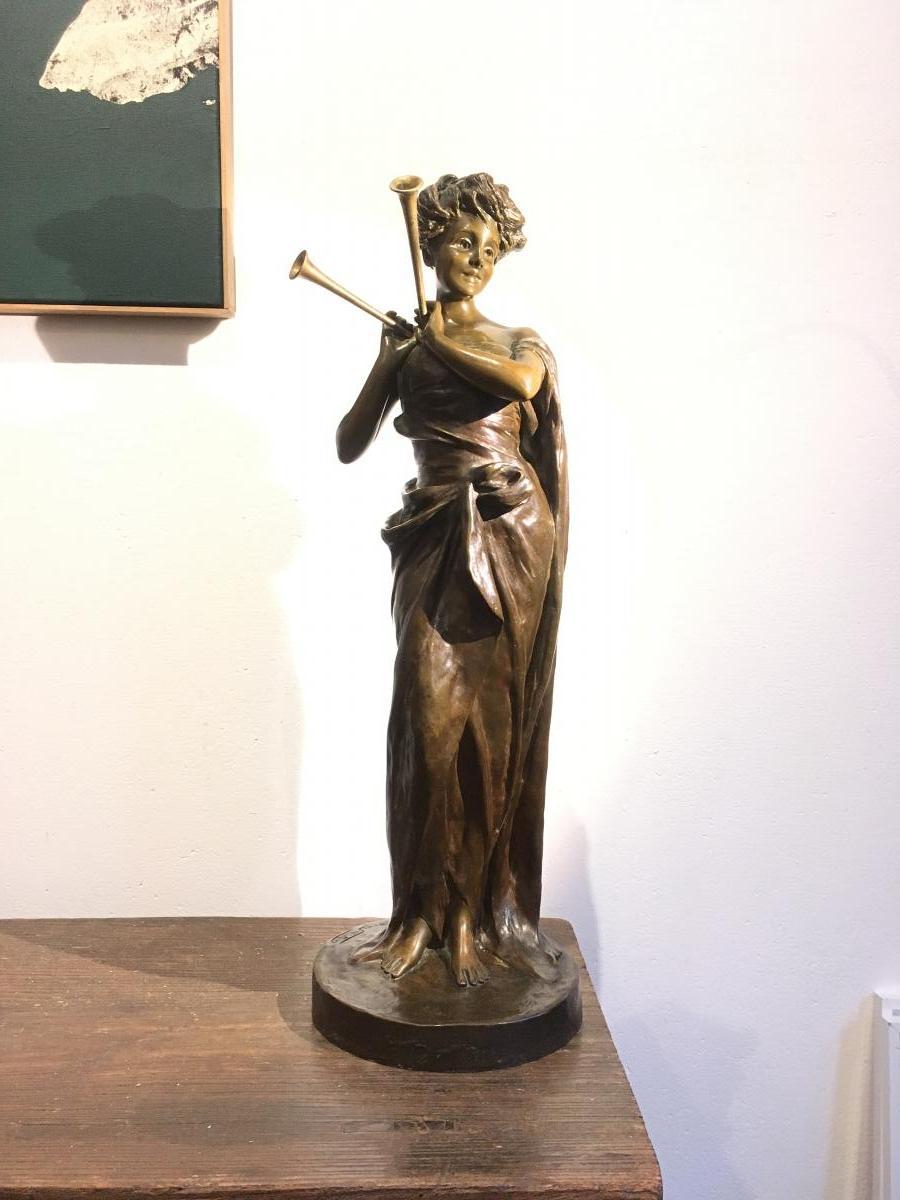 Sculpture en bronze de Van der Straten