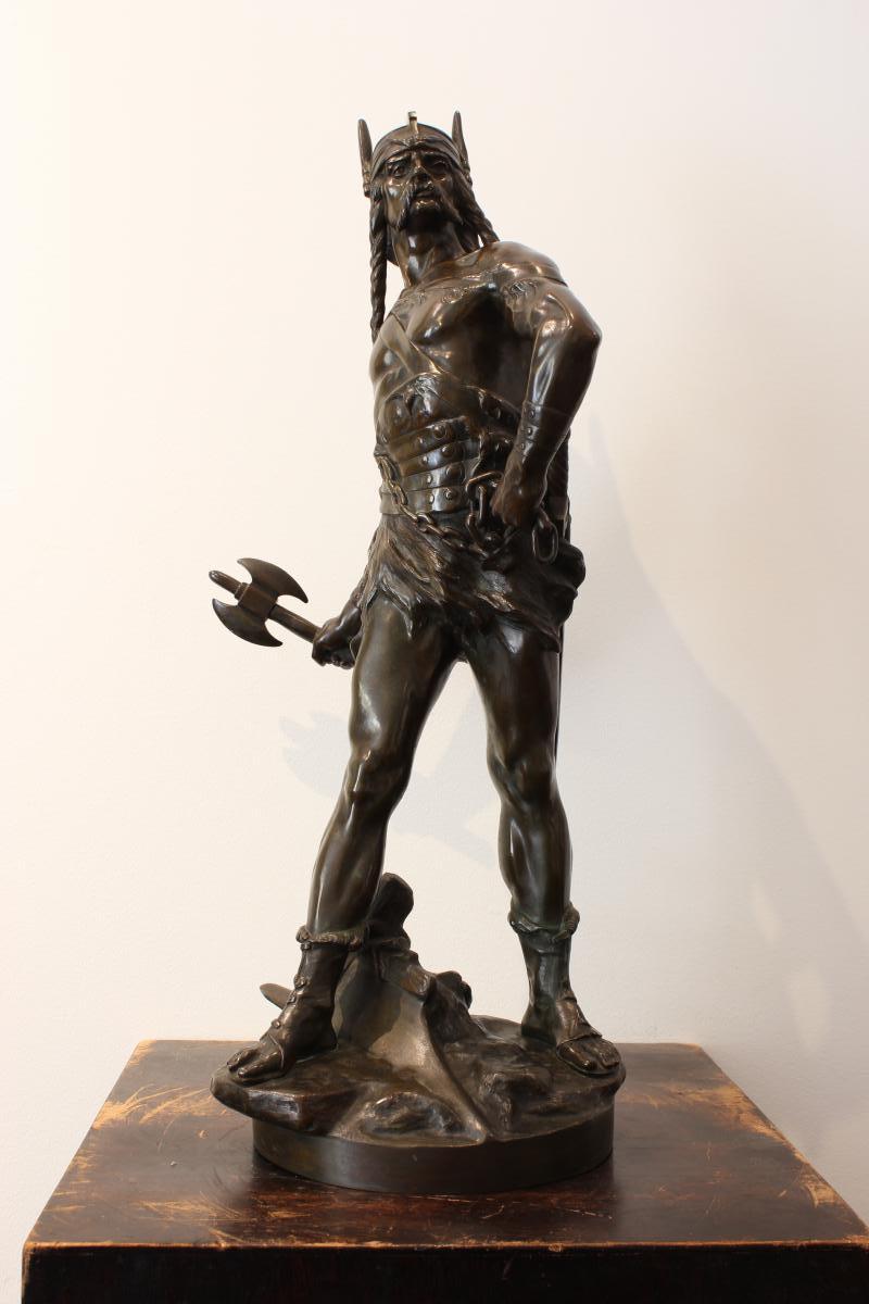 """Sculpture en bronze  """"Vercingétorix"""""""