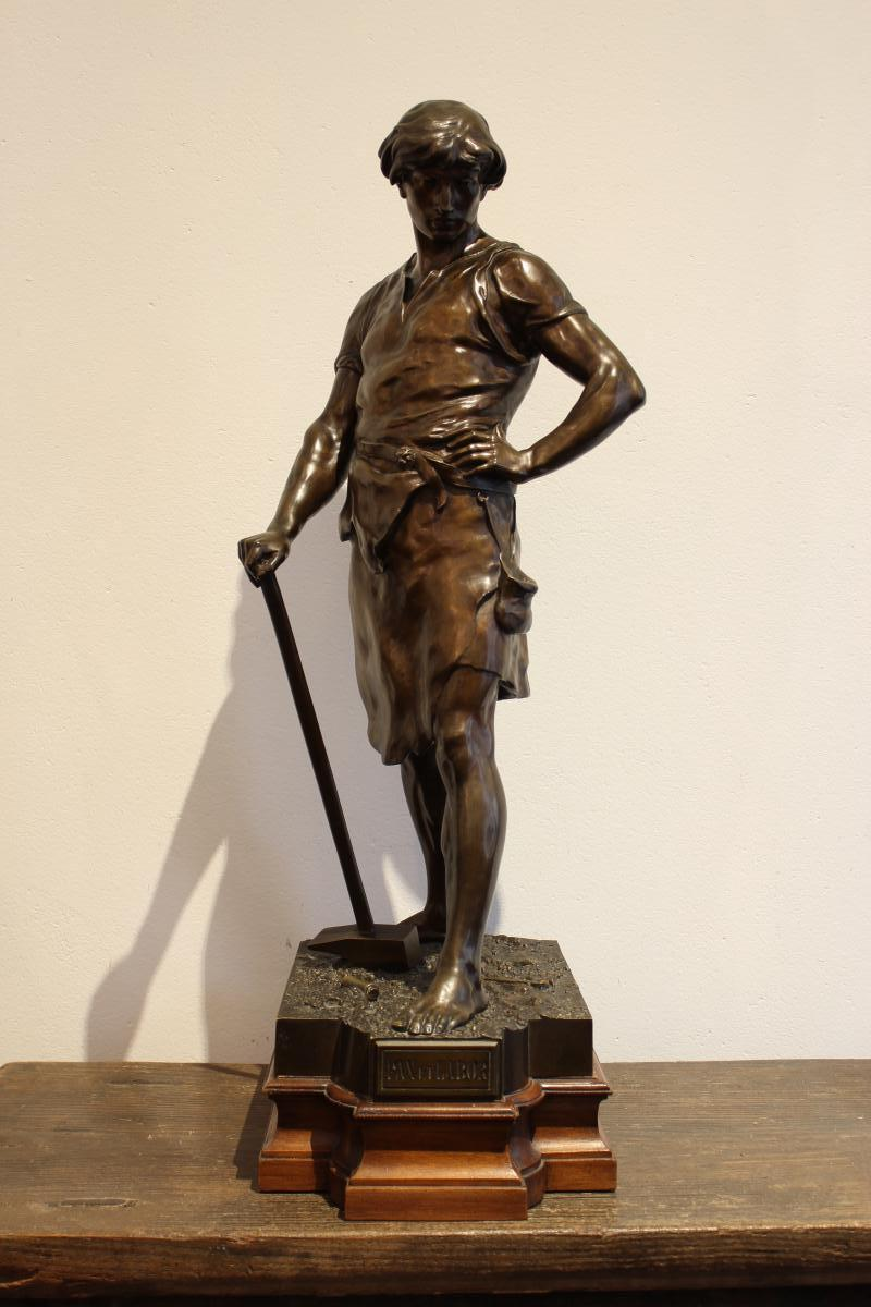 "Sculpture En Bronze ""Pax Et Labor"" De E.Louis Picault"