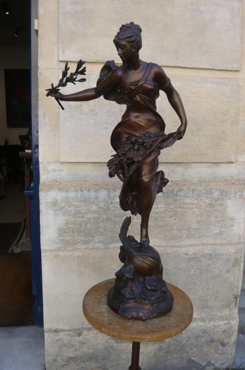 """Sculpture en bronze de Gaudez """"Paix et Abondance"""""""