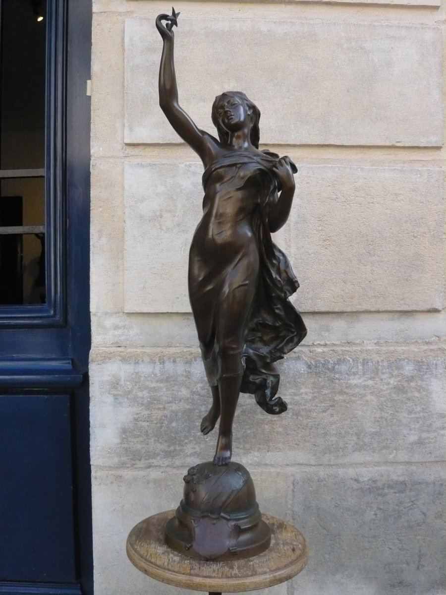 """Sculpture en bronze de Gaudez """"Etoile du matin"""""""