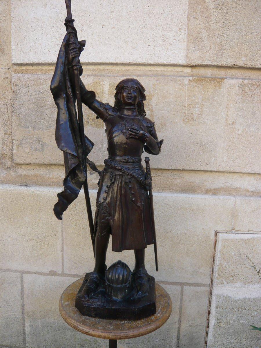 Sculpture En Bronze Jeanne d'Arc-photo-2