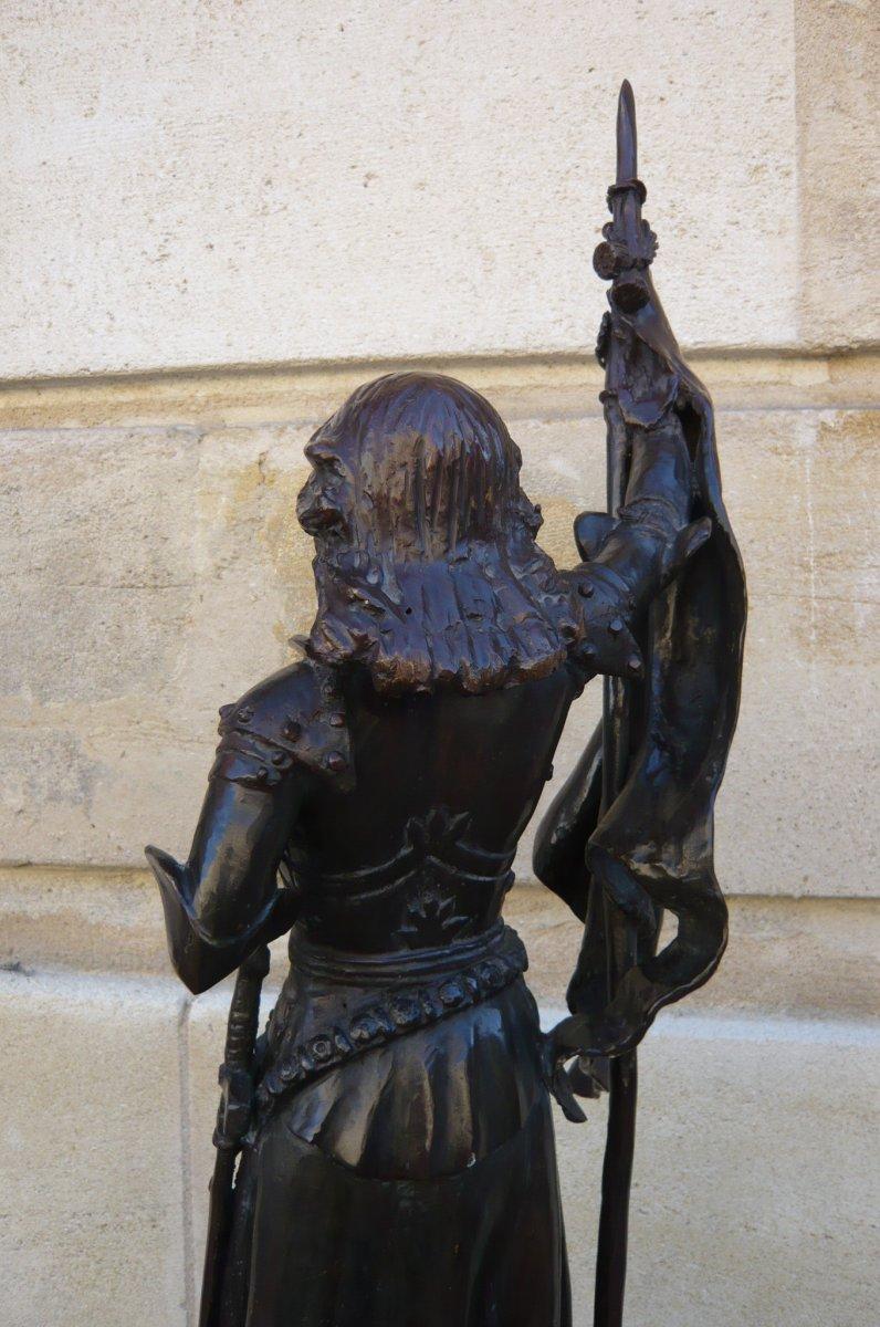 Sculpture En Bronze Jeanne d'Arc-photo-4