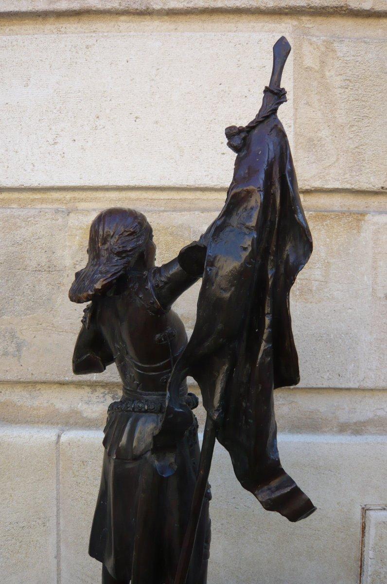 Sculpture En Bronze Jeanne d'Arc-photo-5