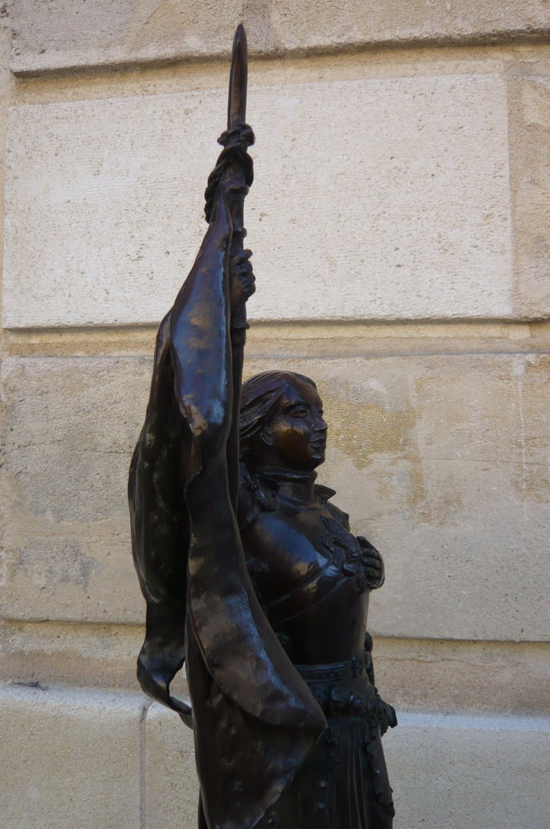 Sculpture En Bronze Jeanne d'Arc-photo-6