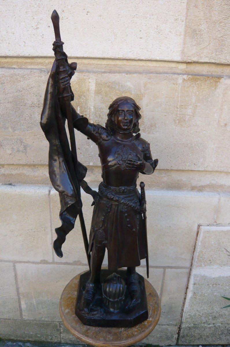 Sculpture En Bronze Jeanne d'Arc-photo-7