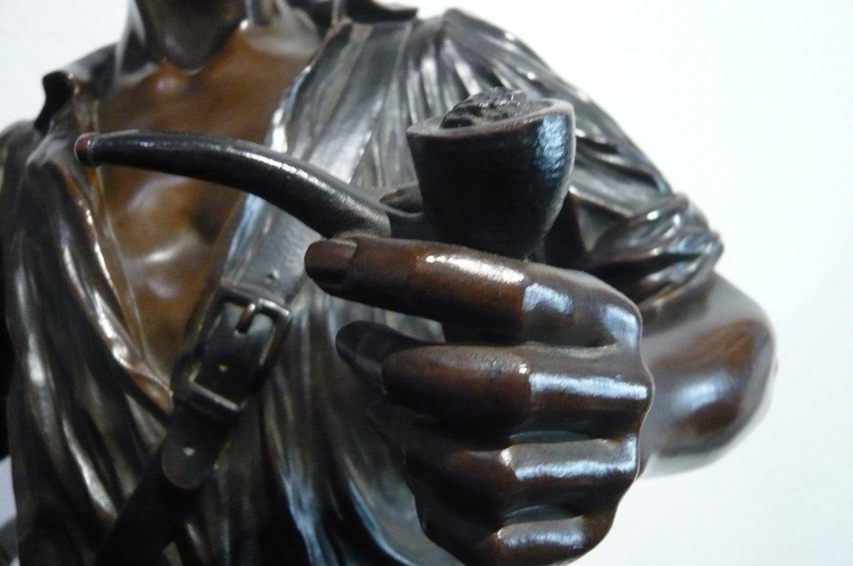 Sculpture En Bronze De Fugère