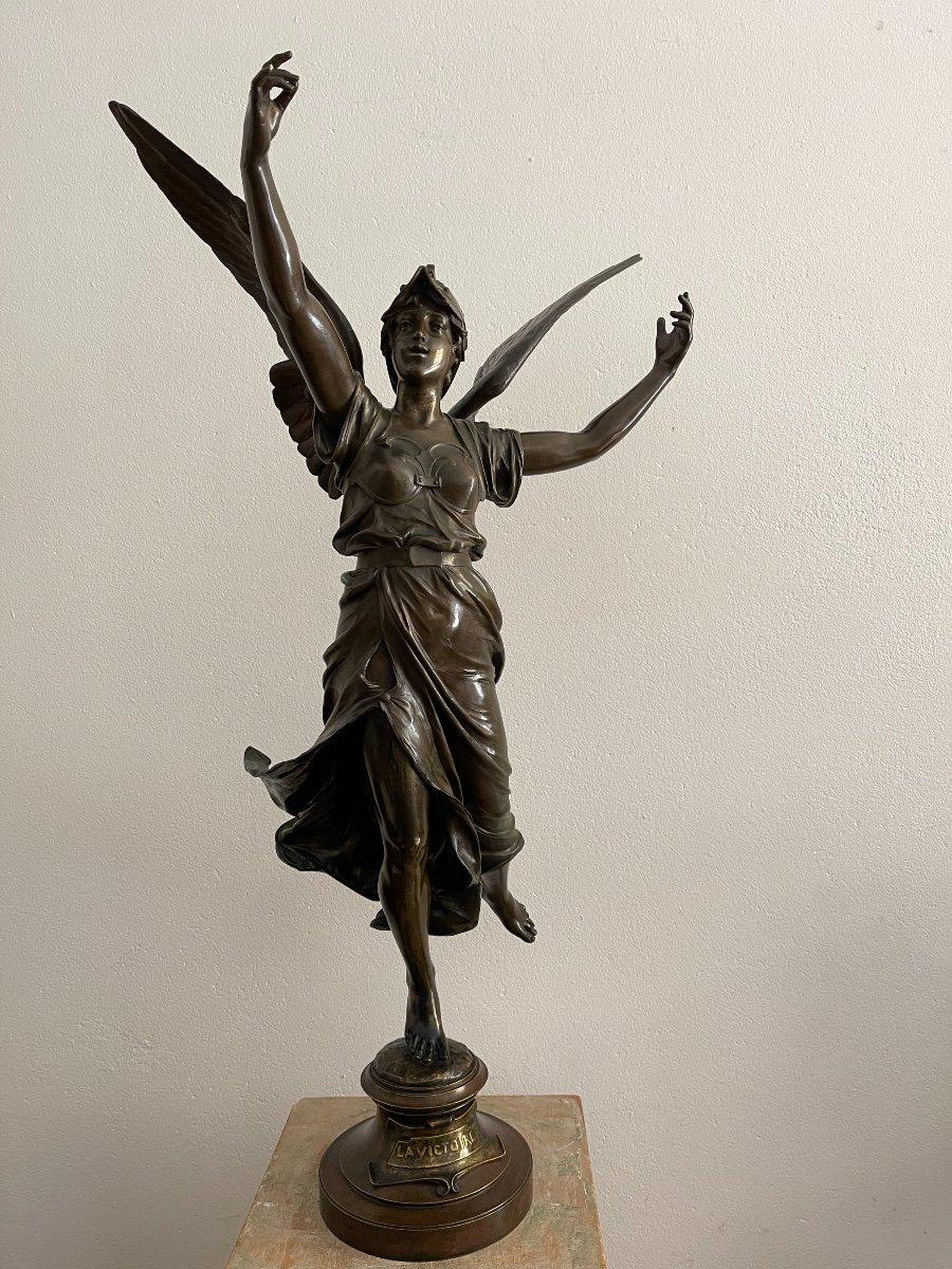 "Sculpture en bronze ""La Victoire"" de Marioton-photo-2"