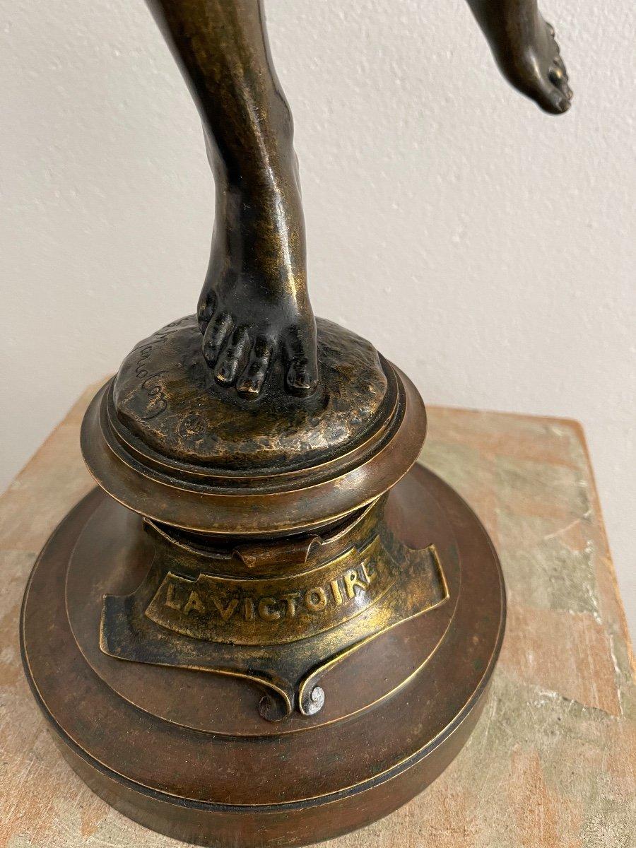"Sculpture en bronze ""La Victoire"" de Marioton-photo-8"