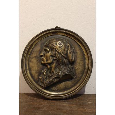 Medaillon  En Bronze  Marat