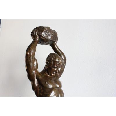 """Sculpture en bronze  """" L'effort"""""""