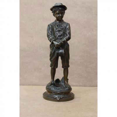 """Petite sculpture en bronze """"La cruche cassée"""""""