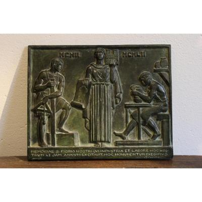 Plaque Bronze de Paul Silvestre