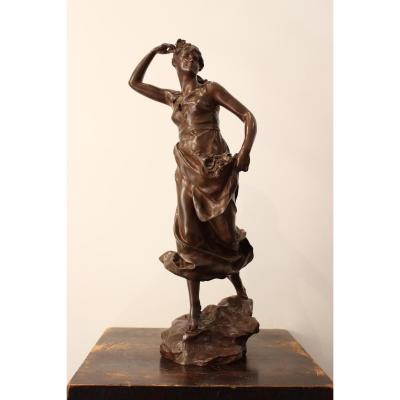 """Sculpture En Bronze """" Eglantine"""" De Steiner"""