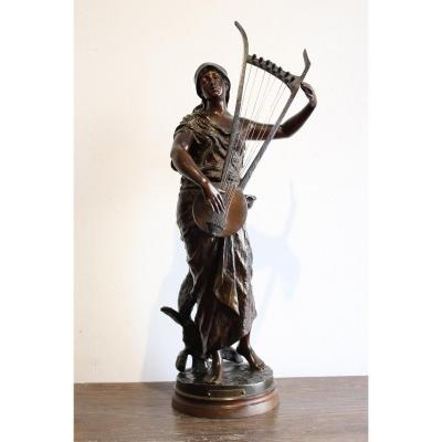 "Sculpture en bronze   "" Sémiramis """