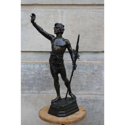 "Sculpture En Bronze ""Messager De Paix"""