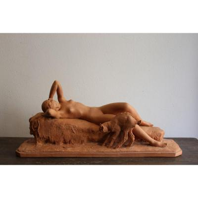 Sculpture Terre Cuite De Ary Bitter