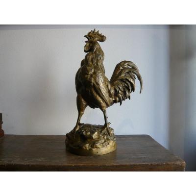 """Sculpture en bronze  """"Coq triomphant"""""""