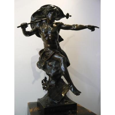 "Sculpture en bronze ""Ad Futurum "" de Picault"