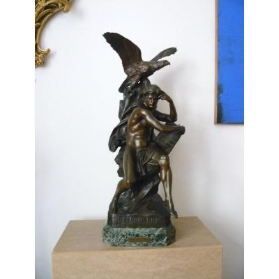Sculpture En Bronze De Picault