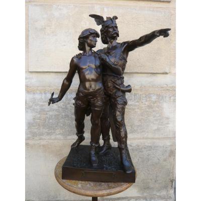 Sculpture En Bronze De Emile Laporte